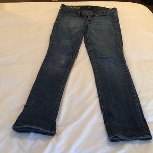"J.crew ""matchstick"" straight leg jeans"